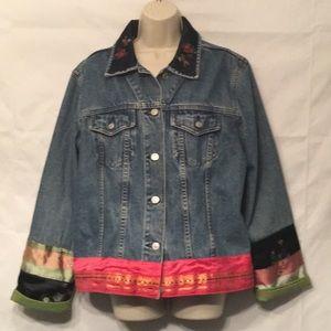 Gap women's embroidered denim jacket extra large